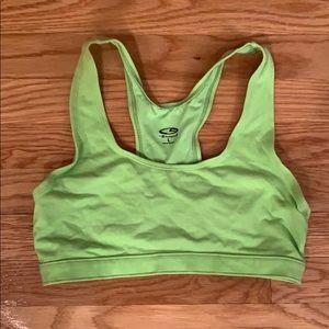 Green Champion Sports Bra